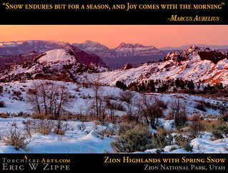 Zion Highlands with spring snow | by ezippe