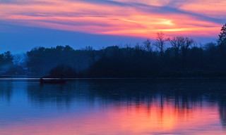 Sunset on Silver Lake, Wisconsin | by Denise Trocio (D Trocio Photography)