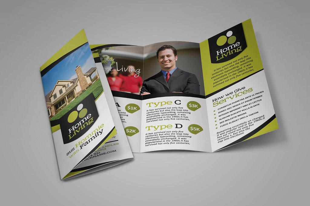 Real Estate Trifold Brochure Download Link Graphicriver Flickr