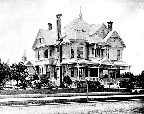1890 los angeles victorian house exterior front corner for 1890 house plans