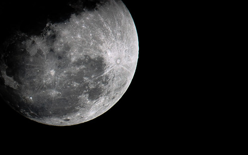 The moon looms large - IMG_4119B&W | by Swaranjeet