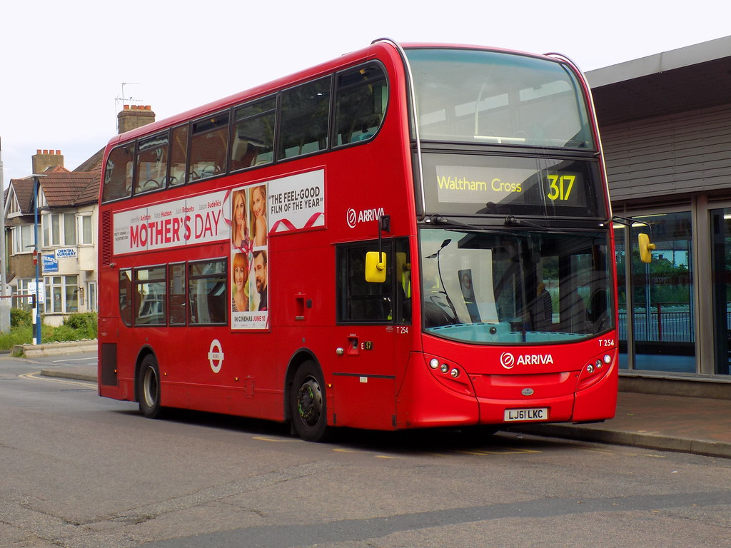 arriva london: lj61 lkc/ t254 on route 317 to waltham cros… | flickr