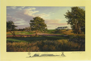 The 9th Hole, Shinnecock Hills Golf Club, Southhampton, NY by Linda Hartough at Smith Galleries | by Smith Galleries