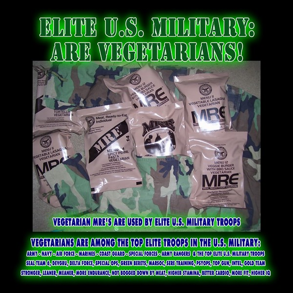 Vegetarian in the military