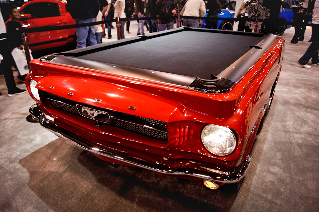 Superior ... Collectoru0027s Edition 1965 Ford Mustang Pool Table | Houston Auto Show  2012 | 016 | Design Ideas