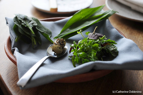 herb butter with ramps and spinach Noma Restaurant Copenhagen Menu (77) | by yumcat