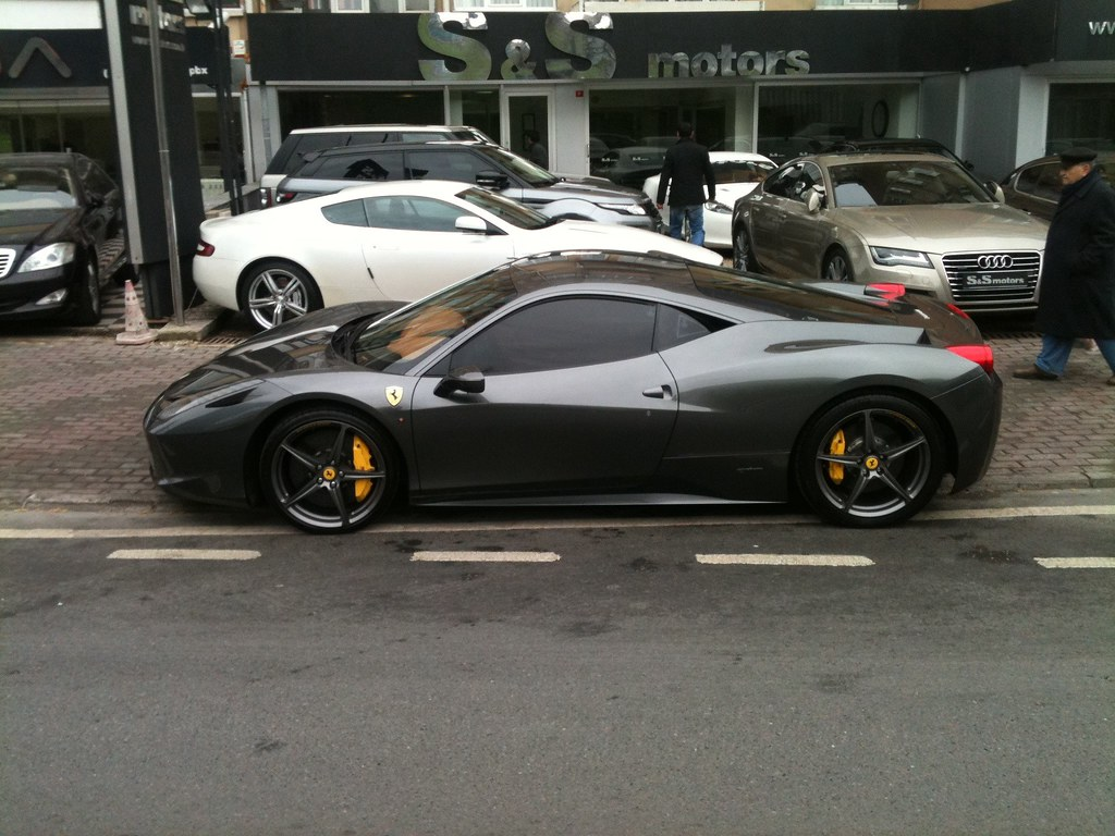 Matte Grey Ferrari 458 Italia (2) | One of my dream cars, ri… | Flickr