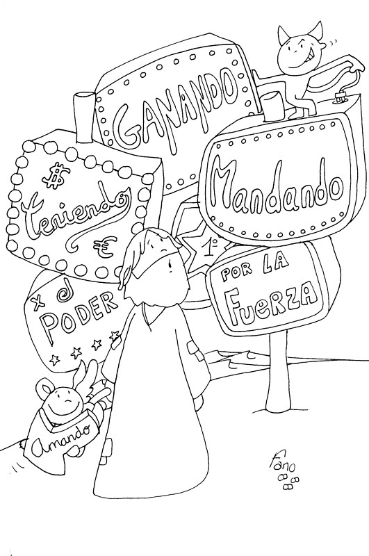 Primer Domingo de Cuaresma (Para colorear)   Abriendo Caminos de Paz ...
