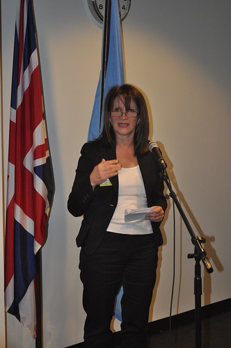 Lynne Featherstone, UK Equalities Minister, speaking at an NGO reception held at the UK Mission to the UN | by UKUnitedNations