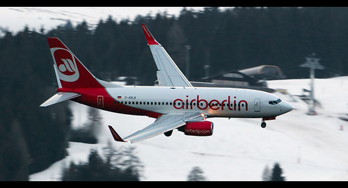 D-ABLB AirBerlin 737 turning baseleg for runway 08 circle to land at Innsbruck. Taken from my holiday apartment. | by nustyR AirTeamImages