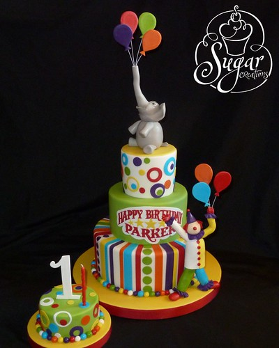 Circus Birthday Cake Circus Theme First Birthday Rice