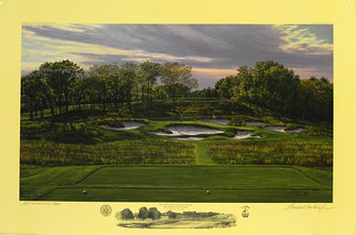 The 17th Hole, Black Course, Bethpage State Park, Bethpage, New York by Linda Hartough at Smith Galleries | by Smith Galleries