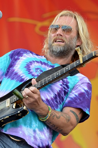 Anders Osborne with the Voice of the Wetlands Allstars at New Orleans Jazz & Heritage Festival, Saturday, April 28, 2012 | by Offbeat Magazine