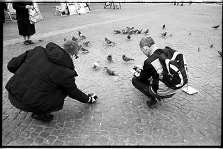 warsaw / pigeons and people... | by Michał Kycia