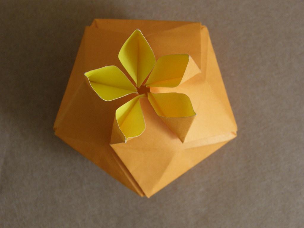 Origami flower box 05 paper pentagon created le0mar28 flickr origami flower box 05 by le0mar28 mightylinksfo