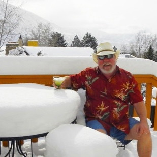 A Few Snowflakes Are Not Going to Stop My Sunday Margarita on the Deck | by Sledge 1984