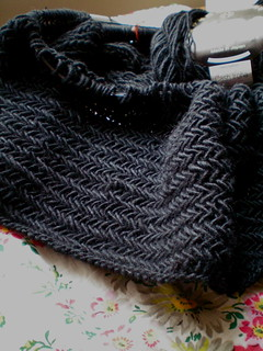 WIP: Big Herringbone Cowl | by juliezryan