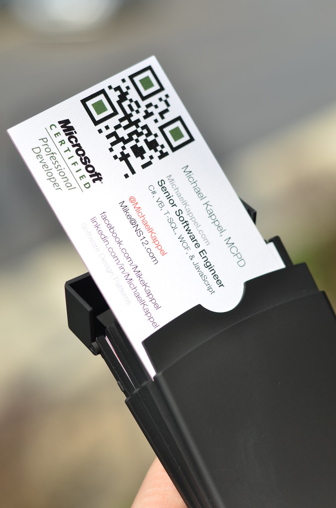 QR Code Business Cards   Microsoft Certified Professional De…   Flickr