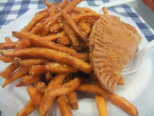 Crawfish Pie and Sweet Potato Fries | by swampkitty