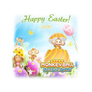 Super Monkey Ball Happy Easter 2012 IPad (1024x1024) | by SEGA of America