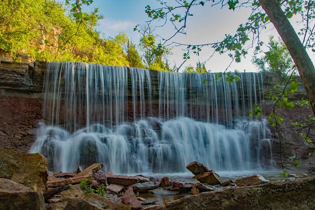 Cowley Lake Waterfall: Kansas