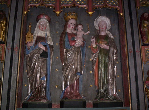 German shrine  with S:t Hedwig of Silesia, Mary and S:t Elizabeth of Hungary in Torsvi church, Uppland | by Someday man