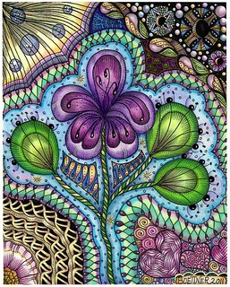 Flower Dance coloring page | by carolynboettner