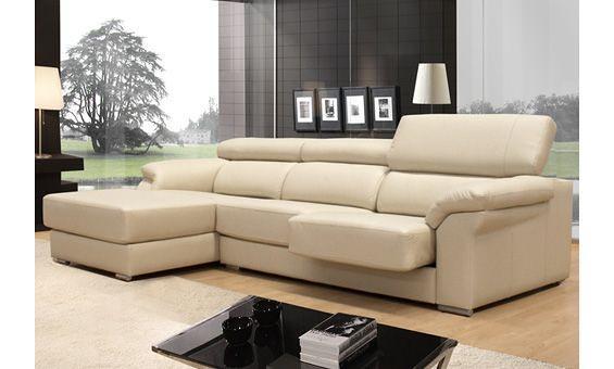 Sofá en piel beige con asientos desplegables | Sofá tapizado… | Flickr