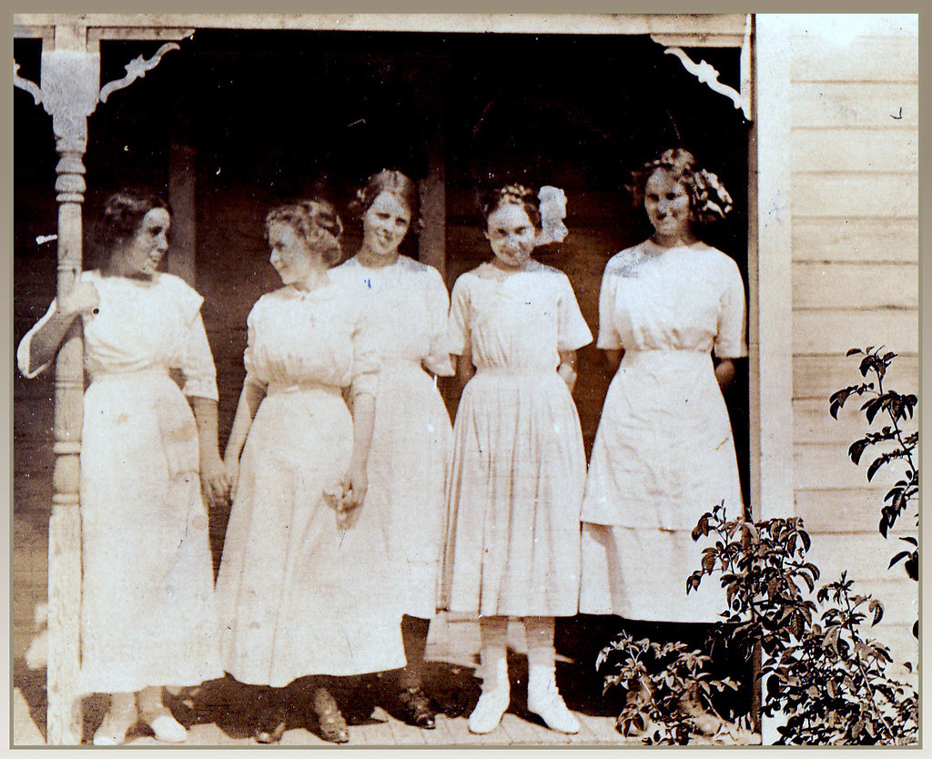 girls in their summer dresses