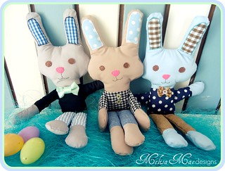 Boys will be Boys Bunny Plushies | by MelisaMae