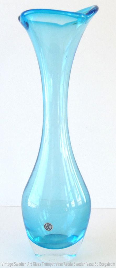 Vintage Swedish Art Glass Trumpet Vase Aseda Sweden Labele Flickr