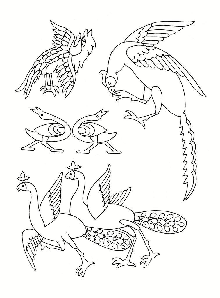 east asian designs - stylised birds | see: bibliodyssey.blog… | flickr