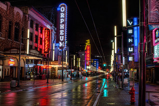 Illuminated Signs along Granville Street in Vancouver BC at Night - HDR | by David Gn Photography