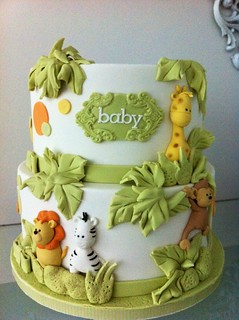 Jungle Babies Cake Decorations