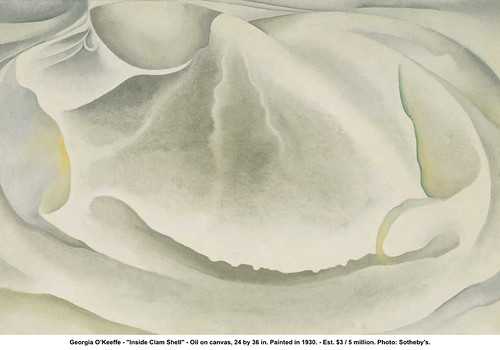 "Georgia O'Keeffe - ""Inside Clam Shell"" 