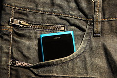 picture of phone in pocket Nokia Lumia