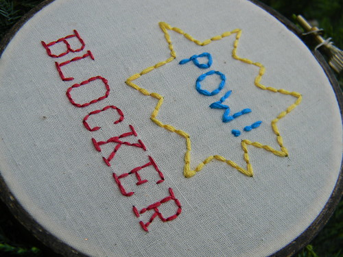 Roller Derby Blocker Embroidery Hoop Art | by Hey Paul Studios