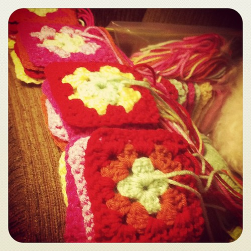And more squares... #crochet #grannysquares | by MommyNamedApril