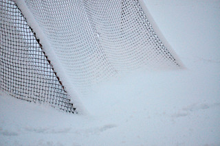 Around Here the Soccer Goals Become Abstract Sculptures In Winter | by Madison Guy