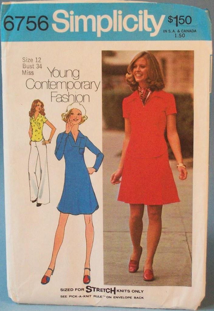 Vintage 1974 uncut sewing pattern, Misses pullover dress, … | Flickr