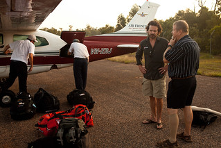 Aaron and Bryan having a final chat before we departed Elcho Island. | by earthducation