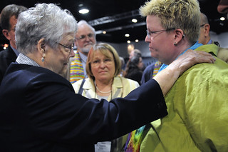 Bishops negotiate with protestors at 2012 United Methodist General Conference | by United Methodist News Service