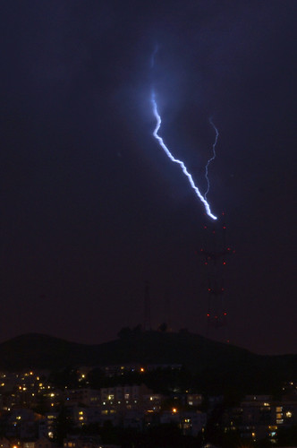 Sutro Tower hit by lighting | by trophygeek