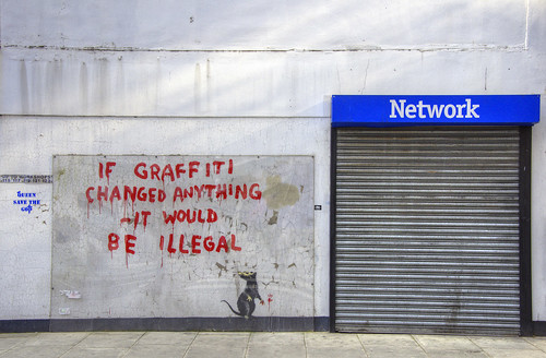 Alreet to Banksy's graffiti in Fitzrovia! | by yorkshire stacked