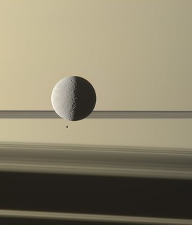 Rhea, Epimetheus transiting | by ugordan