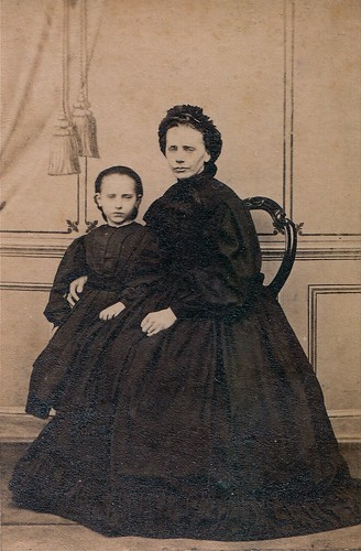Mother and Daughter in Mourning, Unmarked Albumen Carte de Visite, Circa 1866 | by lisby1