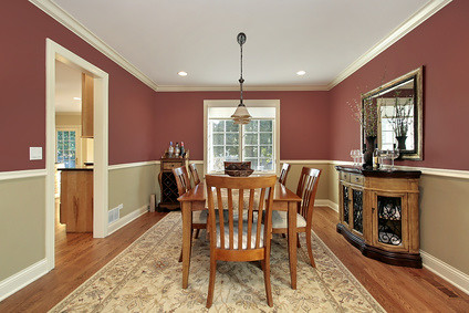 two tone living room ideas dining room with two toned walls dining room in suburban 20750