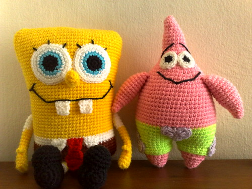 Amigurumi Spongebob and Patrick | by myorganiclife