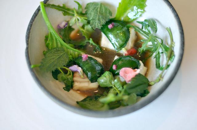 Restaurant Noma: Pighvar med urter og rå rejer