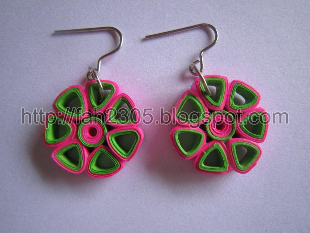 Paper Jewelry - Handmade Quilling Earrings (Flower Open Pe…   Flickr